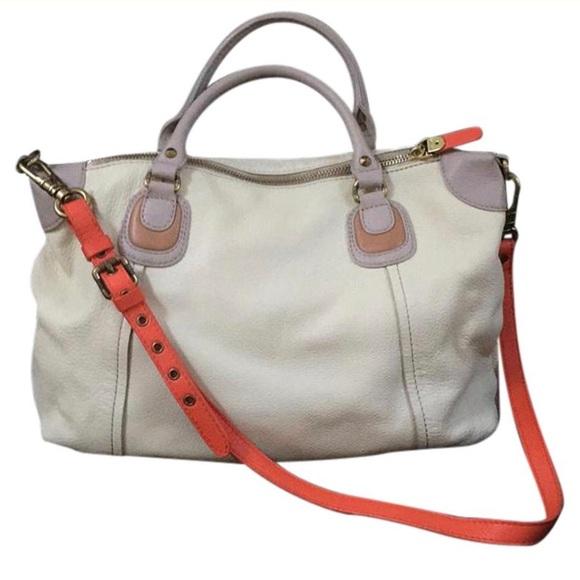 orYANY Handbags - ORYANY cream leather satchel (anthropologie)